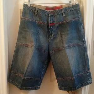 Marithe Francois Girbaud Denim/ jeans shorts sz34.